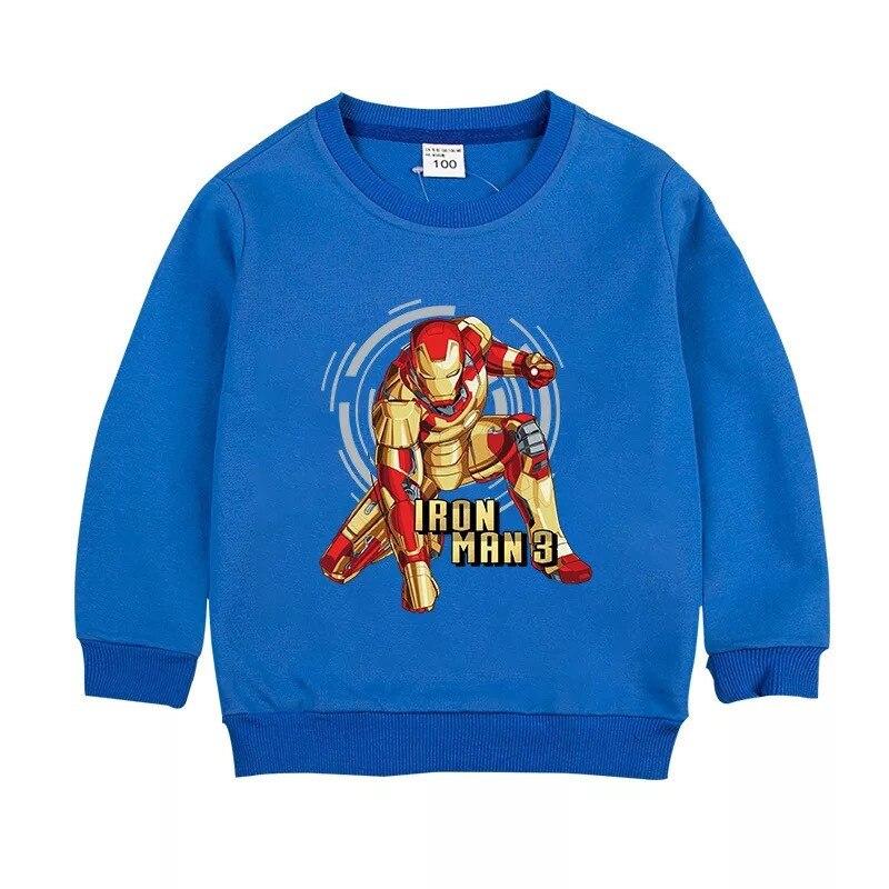 Новинка, для мальчиков с рисунком «Железный человек», Толстовка детская одежда, хлопковый свитер с длинными рукавами для малышей в стиле «Человек паук», детская одежда, детские толстовки с капюшоном одежда для детей|Толстовки и кофты| | АлиЭкспресс