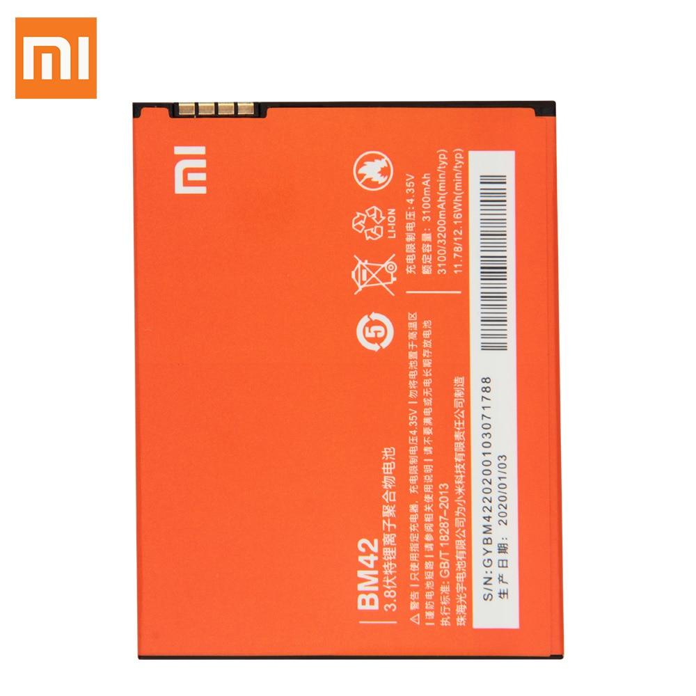 Xiao Mi Original Replacement Battery BM42 For Xiaomi Mi Redmi Note 1 Authentic Phone Battery 3200mAh enlarge