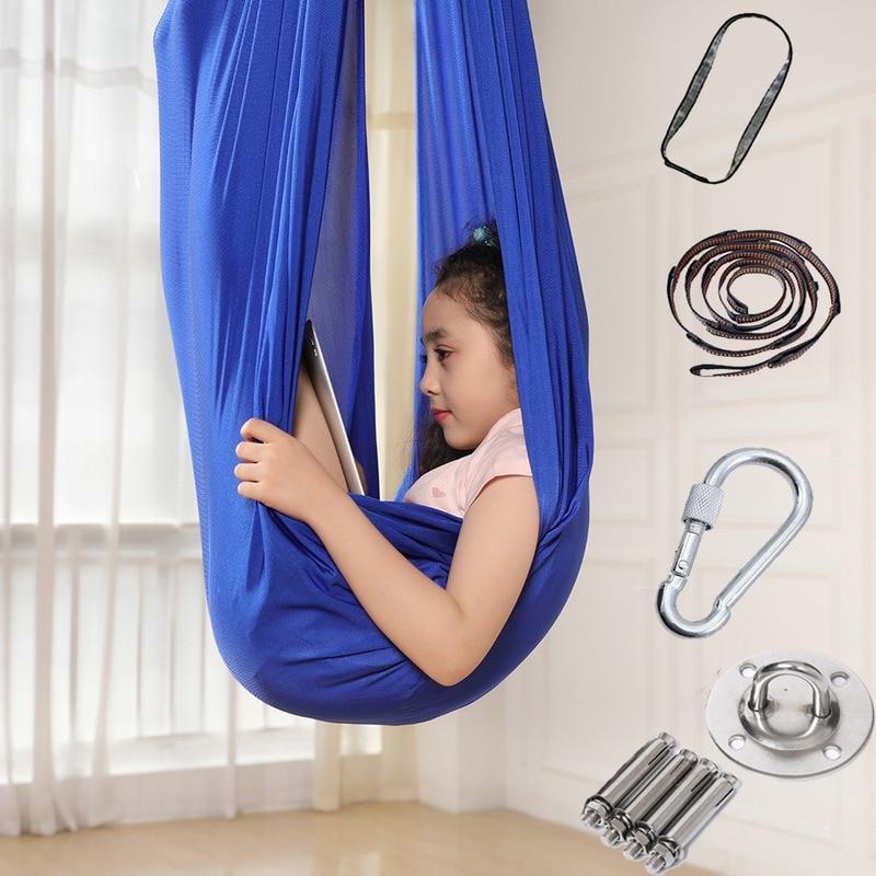 Amazon hot sale elastic children hammock indoor and outdoor swing children elastic sensory swing hammock factory