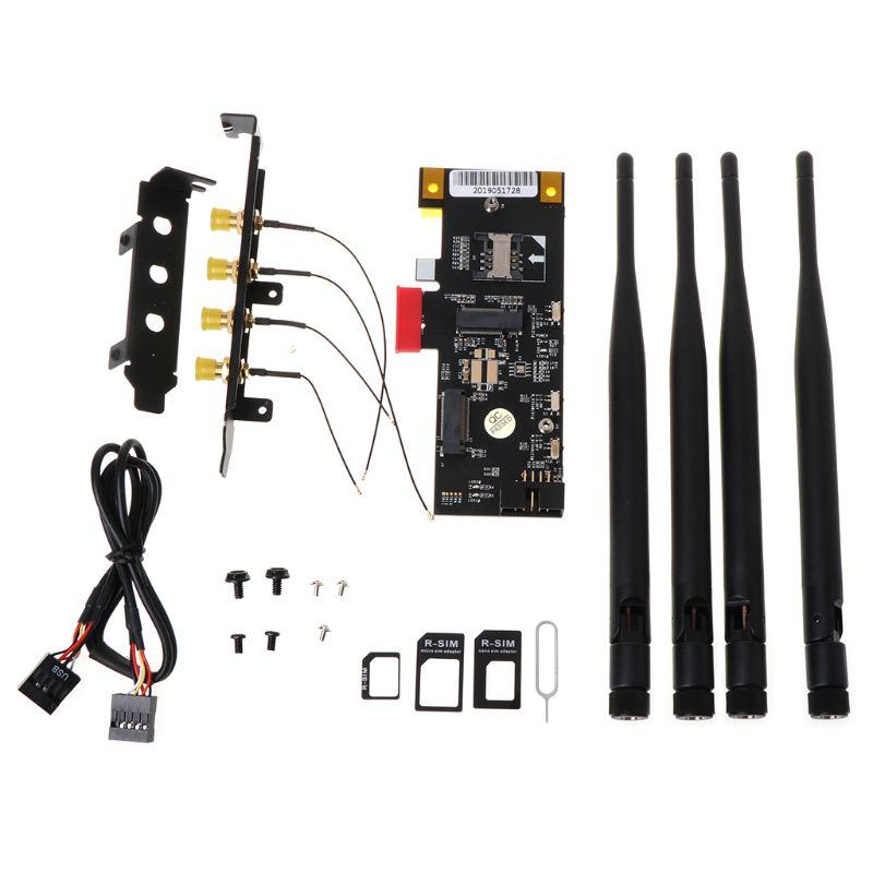 Adaptador NGFF m2 Key A PCI-e X1 para WiFi y tarjeta Bluetooth PCIe X1 adaptador Wifi PCIE tarjeta adaptador convertidor para módulo 3G/4G