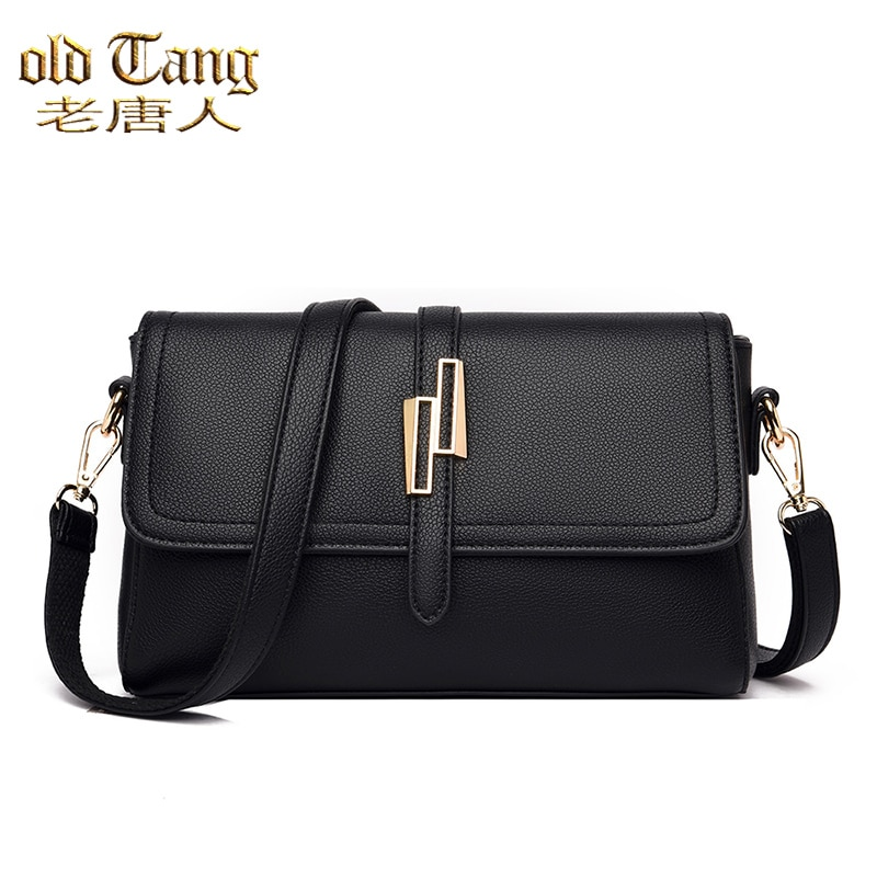 OLD TANG Solid Color PU Leather Shoulder Bags for Women 2021 New Fashion Luxury Designer Hand Crossb