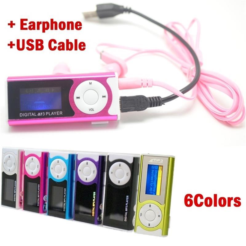Digital Music MP3 Player Mini USB OLED Screen MP3 Support 16/32GB Micro SD TF Card Light Clip Design