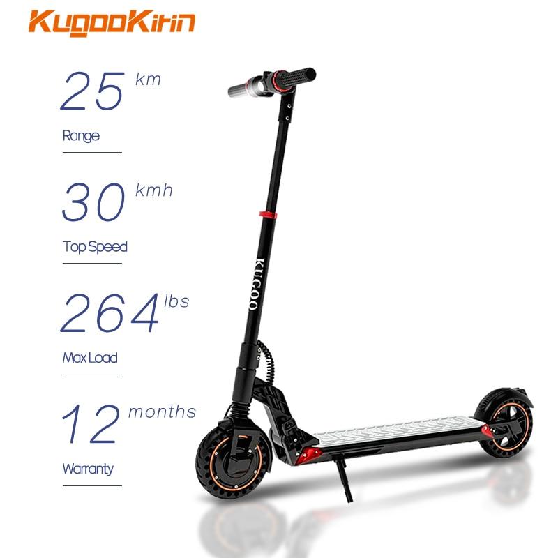 Kugookirin S1 زائد سكوتر كهربائي الكبار طوي E سكوتر 350 واط الطاقة الكهربائية Kic سكوتر 30KMH 25 كجم المدى الذكية سكيت