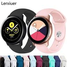 Pour Samsung Galaxy montre Active 2 bracelet 46mm 42 Gear S3 huawei montre 2 souple Silicone bracelet 20mm 22mm bracelet galaxie bracelet de montre