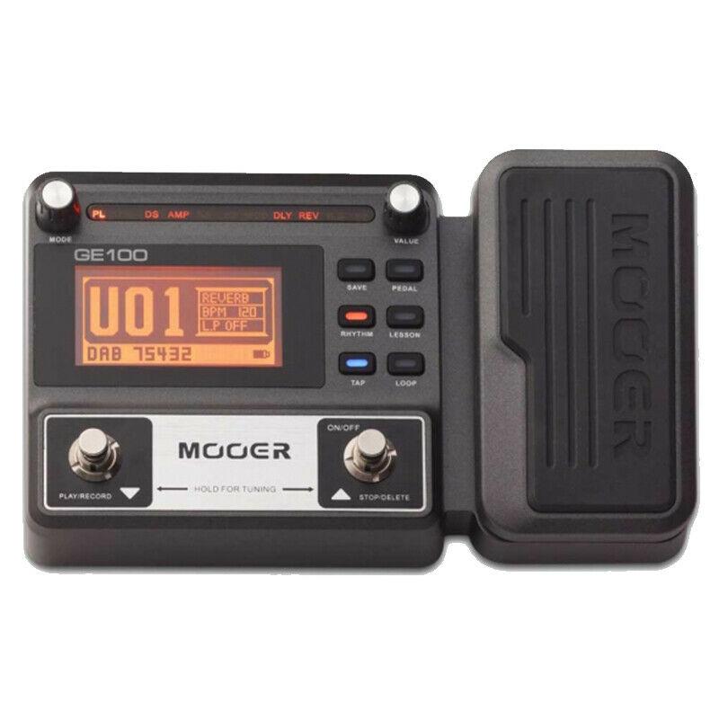 MOOER GE100 Guitar Effect Pedal Multi-Effects Processors Electric Guitar Pedal Metronome 180s Loop Recording US Plug enlarge