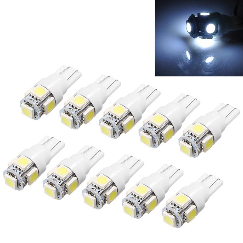10 sztuk 24V T10 5050 5 LED SMD szerokość samochodu lampka do czytania 194 147 W5W automatycznej tablicy rejestracyjnej tworzenia kopii zapasowych biała lampa