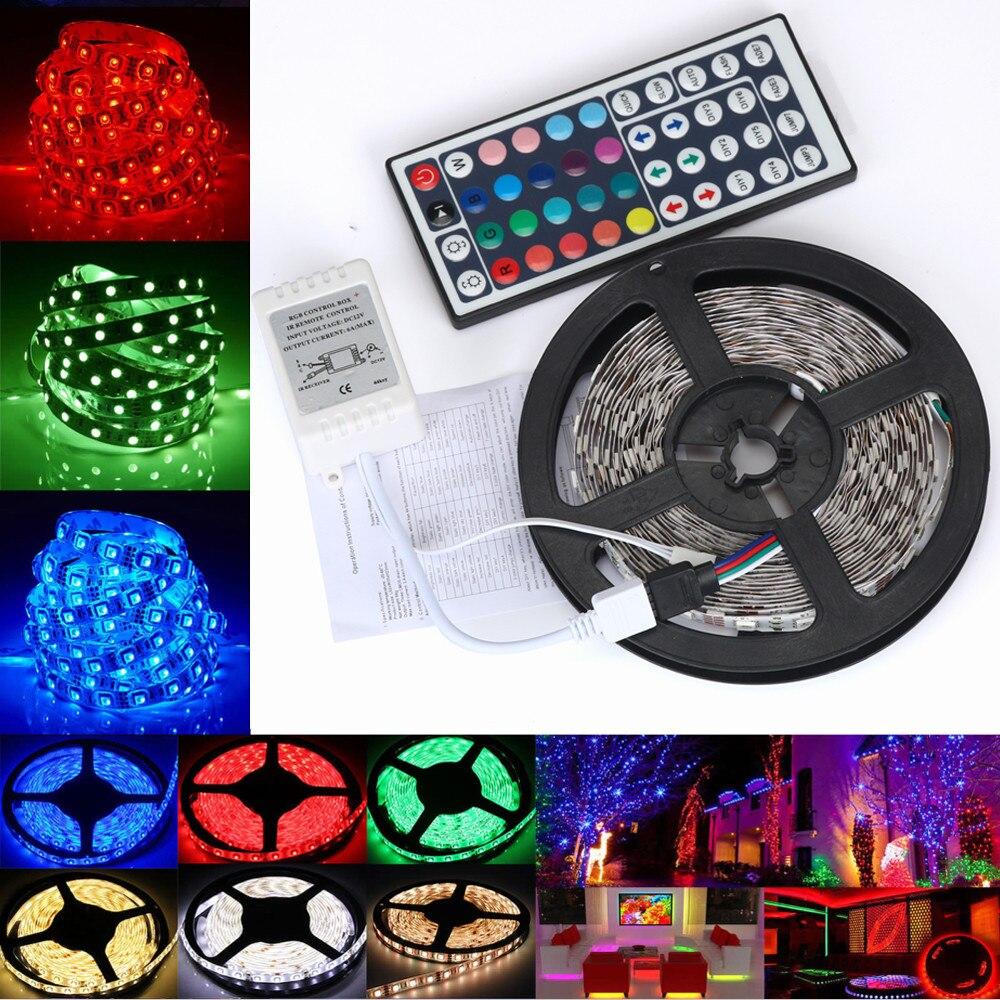 Lámpara para mueble de Cocina LED de 5m, armario ropero, armario, tira de luces LED USB 5V RGB, luz de fondo de TV, decoración, cadena de cocina, iluminación
