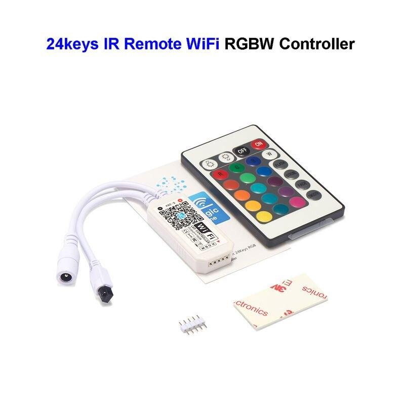 24Keys RGB Wifi Controller 5V 28V RGB RGBW LED Music Controller Magic Home WiFi LED Controller For 5050 2835 3528 LED Strip