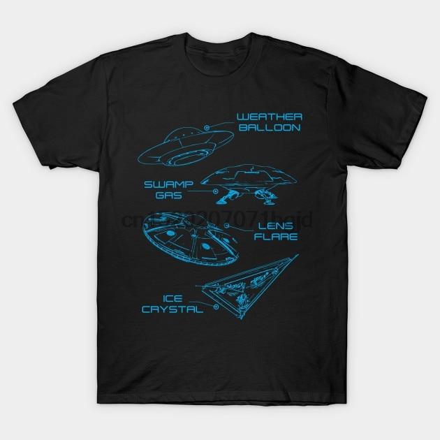 Мужская футболка, НЛО, линза, вспышка, погода, Балон, болото, газ, лед, Рождество, xeire, футболка, женская футболка