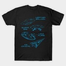 Männer t-shirt Ufo Objektiv Flare Wetter Ballon Sumpf Gas Eis Christal durch xeire t-shirt Frauen t shirt