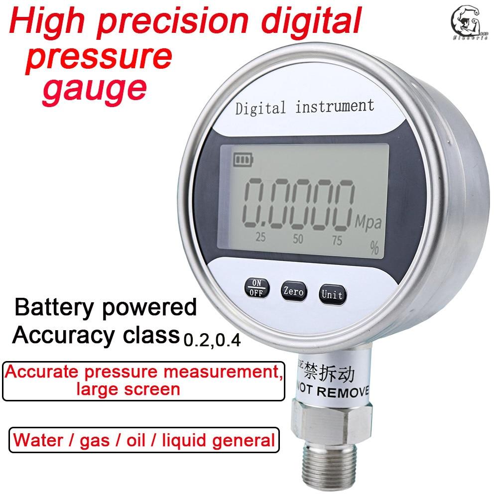 HC-YS100 Stainless Steel Intelligent Battery Digital Pressure Gauge High Precision Seismic Precision Water Pressure Digital Pres
