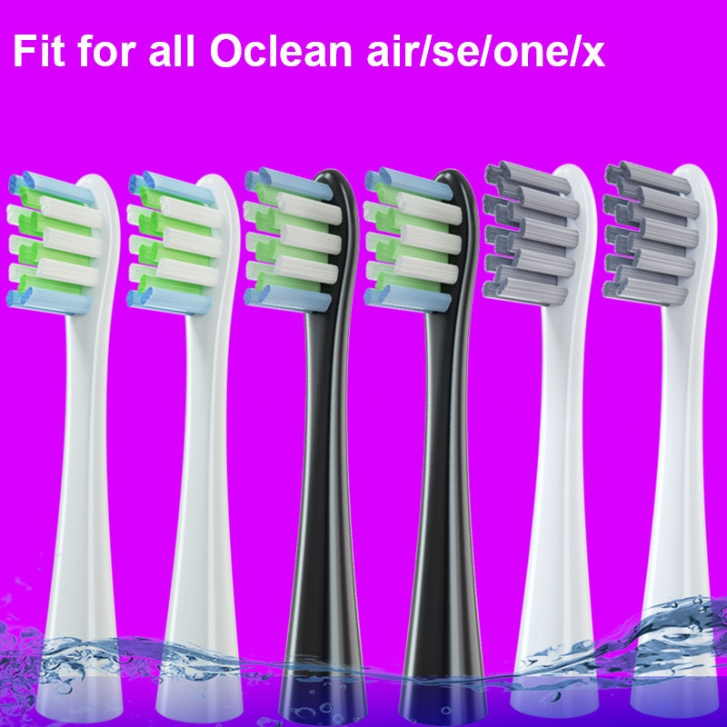 4PCS Replacement Brush Heads For Electric Toothbrush Deep Cleaning Tooth Brush Heads for Oclean X Pro/ X / ZI/ F1 /Air 2/One oclean p3 replacement brush heads for z1 x se air one toothbrush 2pcs