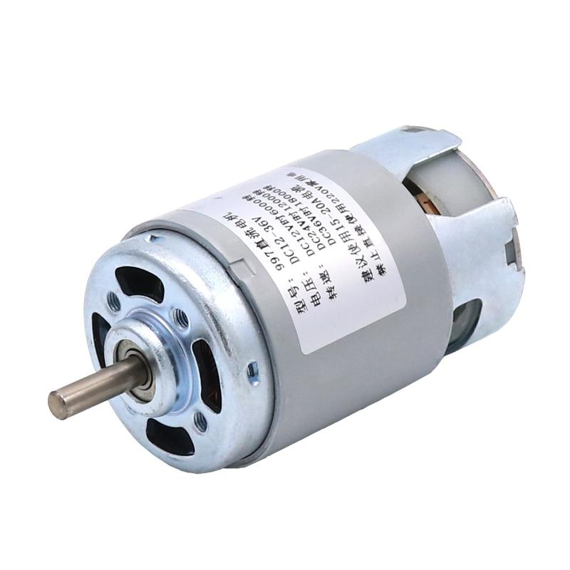 997 Motor DC potente 12-36V de alta Motor de velocidad silenciosa rodamiento Motor