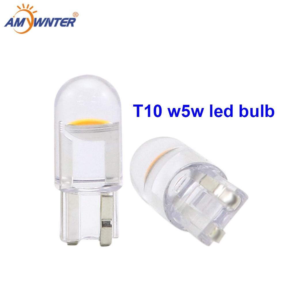 AMYWNTER 12V COB w5w led Car T10 led bulbs for Interior Bulbs Reading Light Car Light Sourse