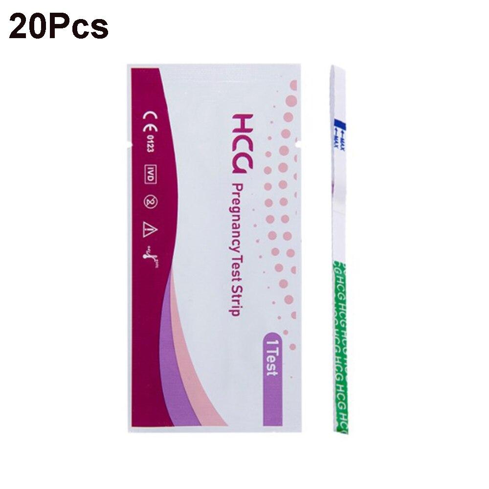20 шт. один шаг HCG ранняя беременность анализ мочи средний поток полоса домашняя личная гигиена мочи для беременных тестовые комплекты оптов...