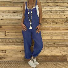 Women Clothing Plus Size Jumpsuit Overalls Casual Loose Dungarees Romper Baggy Playsuit Sportswear C