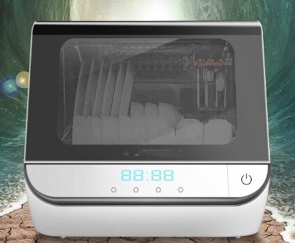 23l totalmente automático casa lavagem de prato desktop pequeno tipo spray de desinfecção do calor toque e função secagem máquina lavar prato