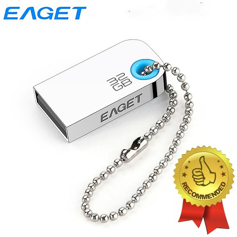 Eaget usb 2.0 flash drive 32 gb super mini pendrive caneta à prova de choque à prova dwaterproof água memória usb vara dustproof disco flash