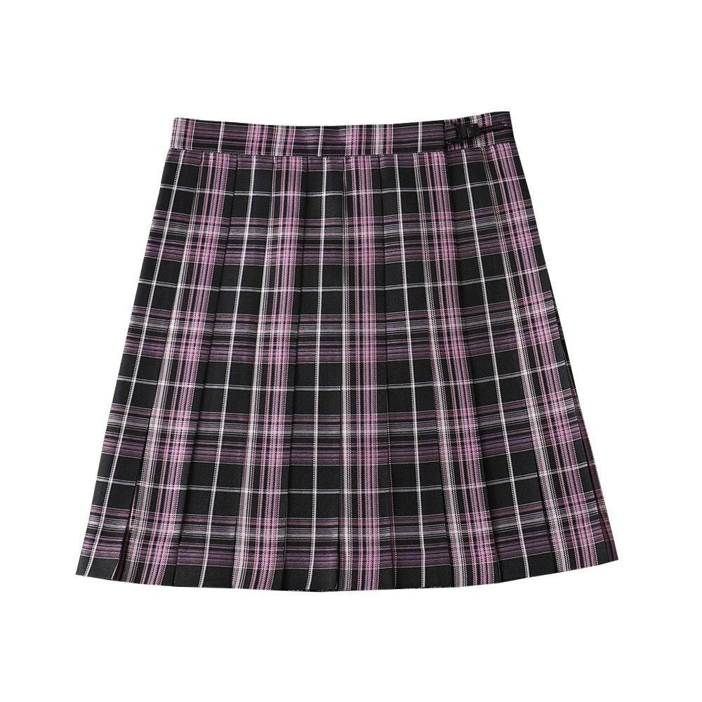 تنورة قصيرة بطيات متقلب للفتيات ، ملابس مدرسية يابانية ، تأثيري ، رسوم متحركة ، زي بحار Jk