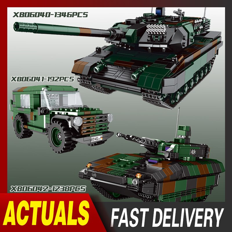 XingBao MOC Military Technic Series Axis Panthet Tank Model Building Blocks Sets Chariot Army WW2 DIY Bricks Kids Toys For Gift xingbao technic new military series 06033 the uk challenger2 main battle tank model blocks bricks toys figure christmas gifts