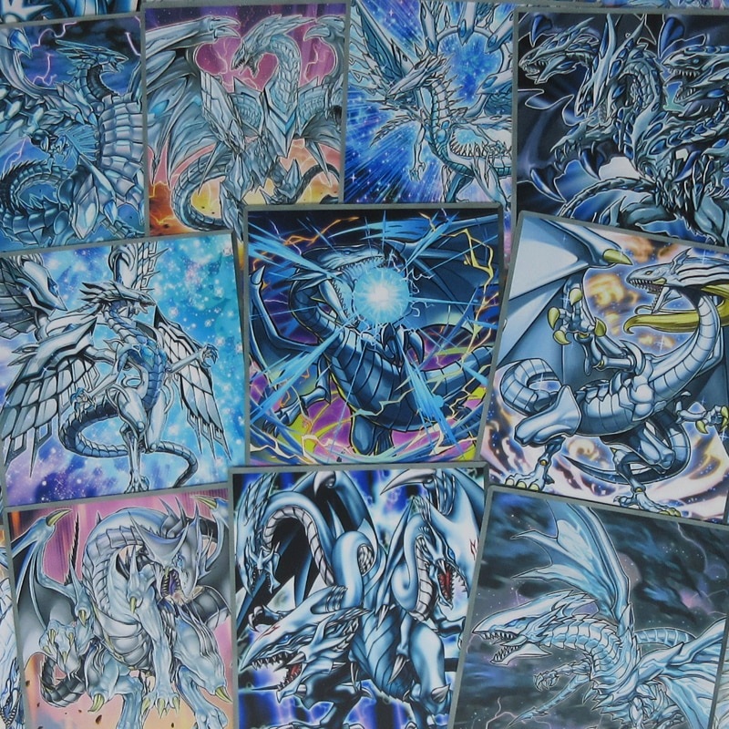20 pçs/set BlueEyes Branco Série Dragon Estilo Anime Cartões Arquétipo DragonsForms Diferente Profundo de Azul-Olhos Yugioh Kaiba Orica