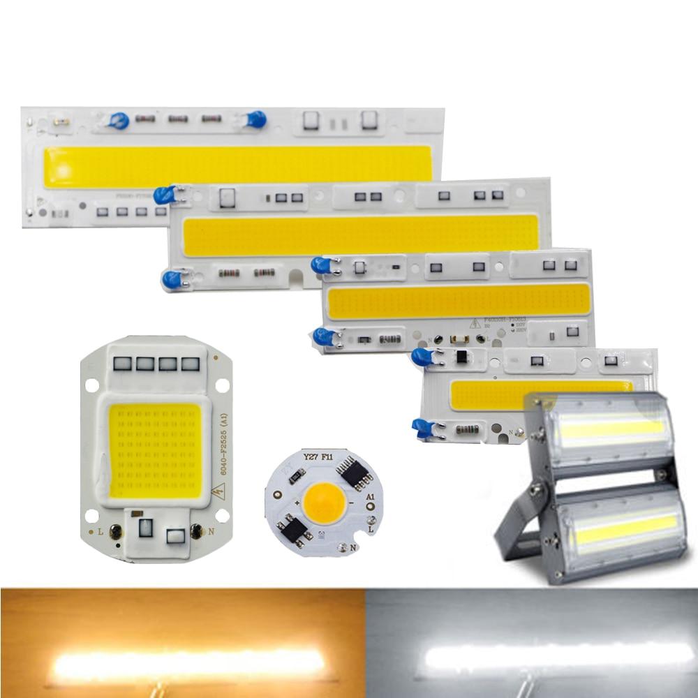 Chip cob de led, 30w 50w 70w 100w 120w 150w ac 220v 110v luminária led ip65 ic inteligente para piscina, luz branca e quente