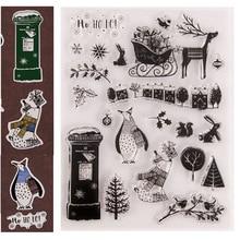 Penguin/Ijsbeer Cover Metal Stansmessen Kerst Clear Postzegels En Sterven Set Voor Scrapbooking Album Card Embossing Craft sterft