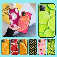 cutewanan fruit tpu black phone case cover hull for iphone 11 pro xs max 8 7 6 6s plus x 5s se 2020 xr case