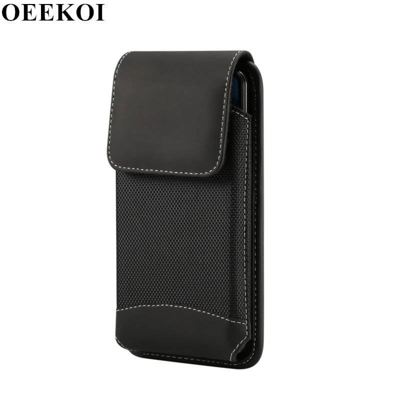 OEEKOI Universal Durable Oxford Cloth Belt Clip Pouch Case for OPPO Reno Z A9X K3 A9 Reno 5G Reno 10x Zoom F11 Pro F11 U3