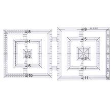 Règle de Patchwork acrylique   Double carré règle de couture faite à la main pour dessin de fil, outil de couture de conception de vêtements, bricolage