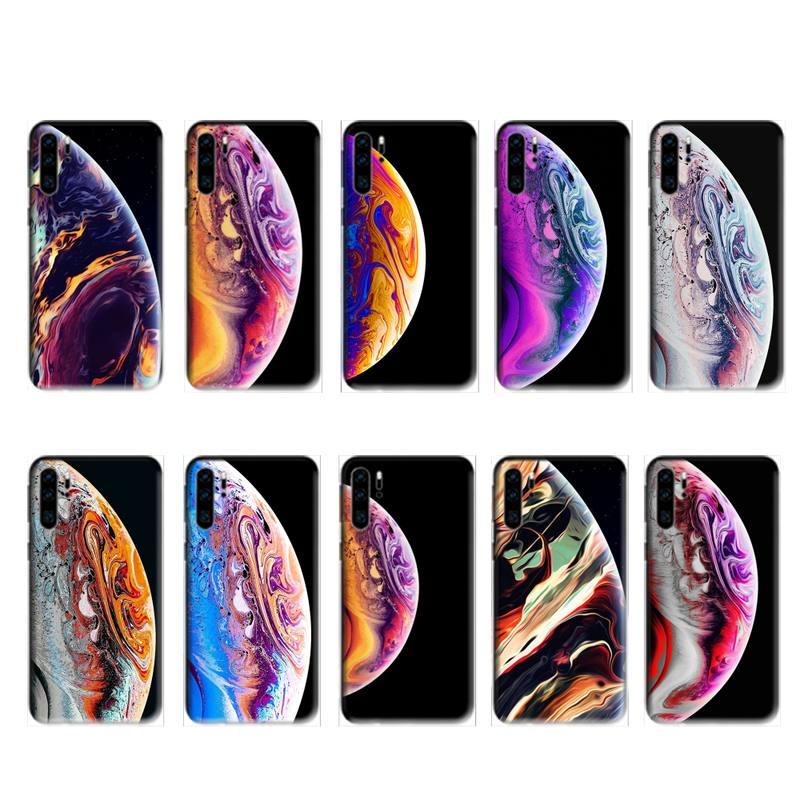 Iphone original papel de parede caso preto para huawei p20 p30 p40 pro companheiro 10 20 30 pro lite p inteligente y7 2019 plus nova 3i