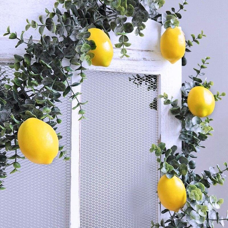 20 Uds limones artificiales limones falsos frutas en amarillo 3 pulgadas de largo X 2 pulgadas de ancho-ABUX