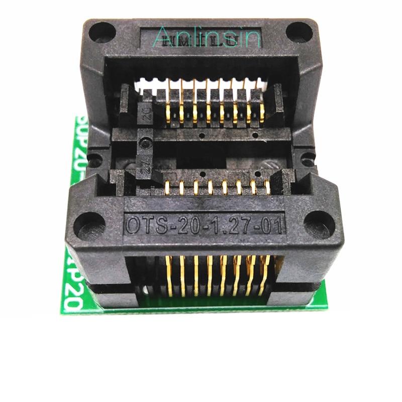 209MIL SOP16 chip Brenn sitz test OTS-16(20)-1,27-01 buchse OTS-16(20)-1,27-01 buchse 1,27 MM Pitch
