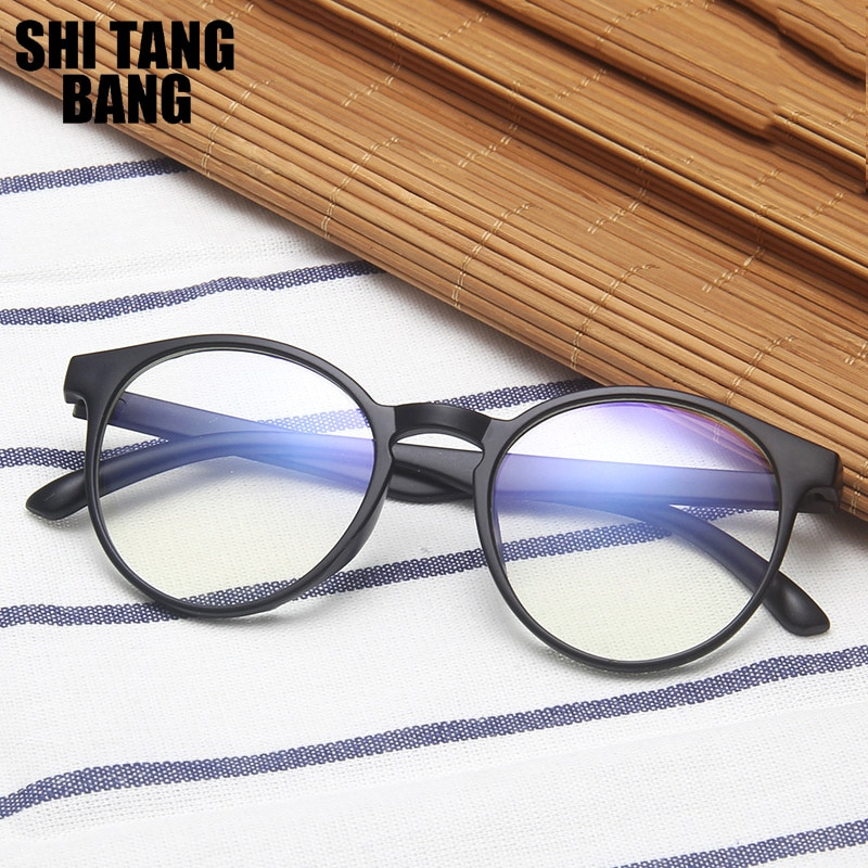 Fashion Clear Optical Glasses Women Anti Blue Light Round Frame Glasses Unisex Universal Office Comp