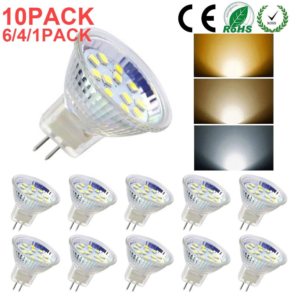 Светодиодные лампочки MR11 GU4 AC DC12V-24V 2835 SMD, галогенная лампа, двухконтактное основание, точесветильник ильники, домашние и спальные украшения,...