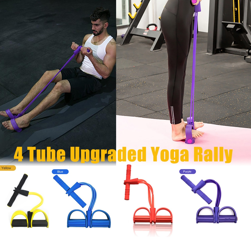 Sit-up Pull Rope Fitness Gum Resistance Bands Latex Pedal Exerciser Expander Elastic Bands Yoga Equipment