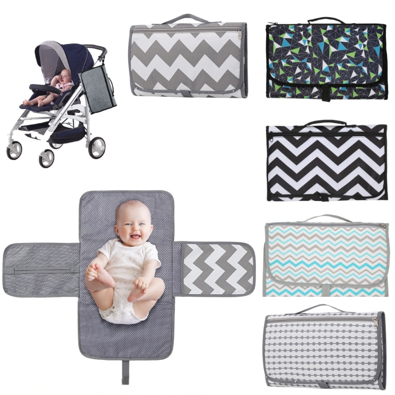 Multifunction Baby Changing Pad Diaper Portable Foldable Washable Waterproof Baby Stroller Mummy Bag Reusable Travel Pad Diaper