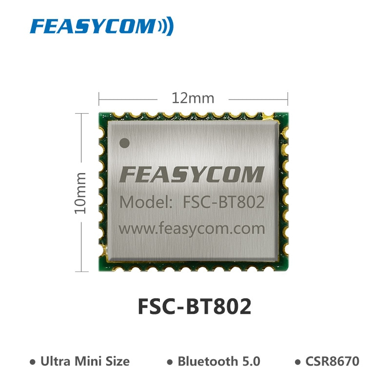 FEASYCOM Новейший высокопроизводительный CSR8670 CVC APTX Micro 5,0 Модуль bluetooth для пользовательских наушников