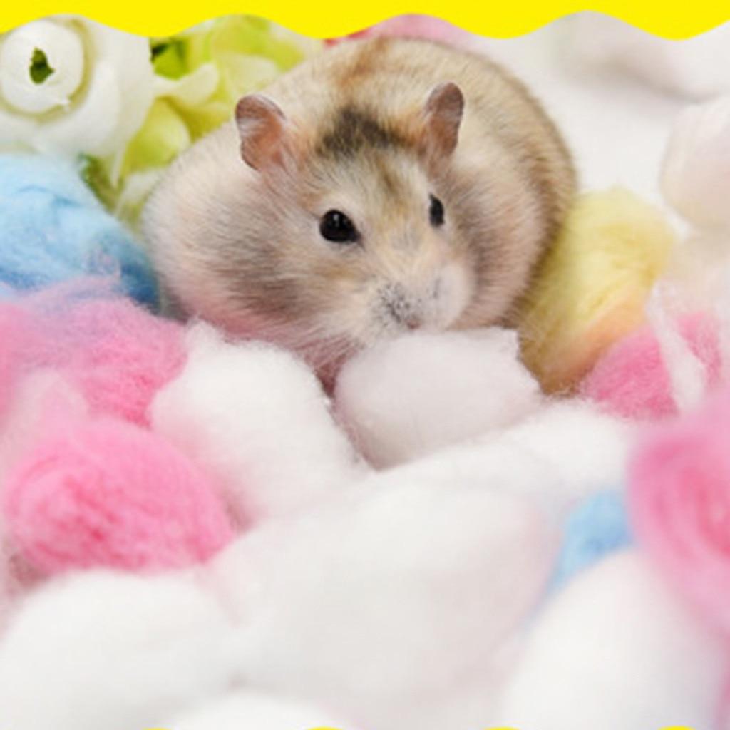 Bola de algodón para hámster mascota, colorida jaula de algodón de papel de oso dorado cálido para invierno de 100 Uds., suministros de accesorios de relleno para casa
