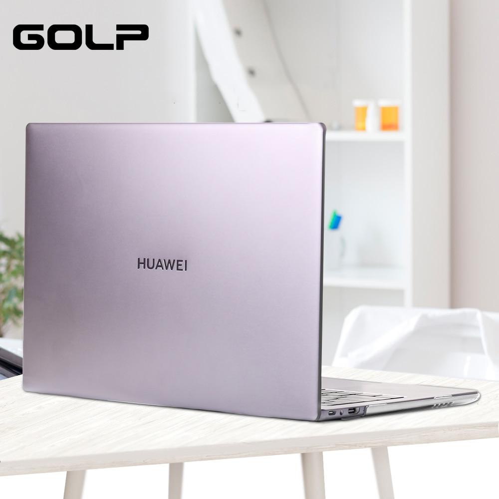 Transparent Hard PC Laptop Case for Huawei Matebook X Pro 13.9 2019, GOLP Laptop Bag Full Cover for Huawei Matebook 13 14 case
