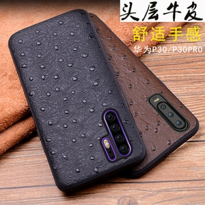 Luxury Genuine Leather Back Cases for Huawei P30 Case Phone Protective Shell Skin for Huawei P30 Pro Funda Fashion Print Bag