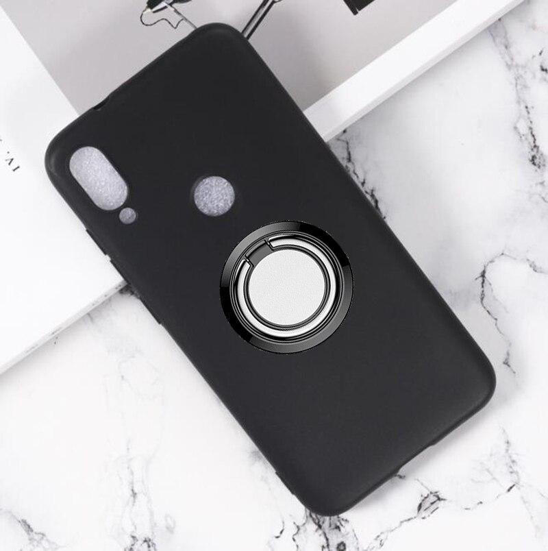 "Para xiaomi mi jogar de volta anel suporte da caixa do telefone capa telefone tpu casos de silicone macio para xiaomi mi play 5.84"""