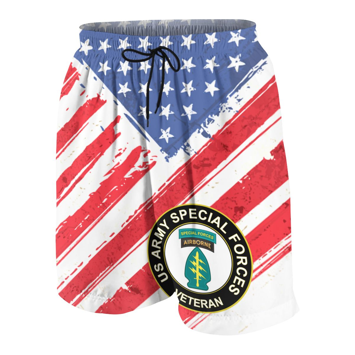US Army Veteran Special Forces Airborne Summer Young Shorts  For Beach Short Sports Pants 3D Print Elastic Fashion Wild Leisure