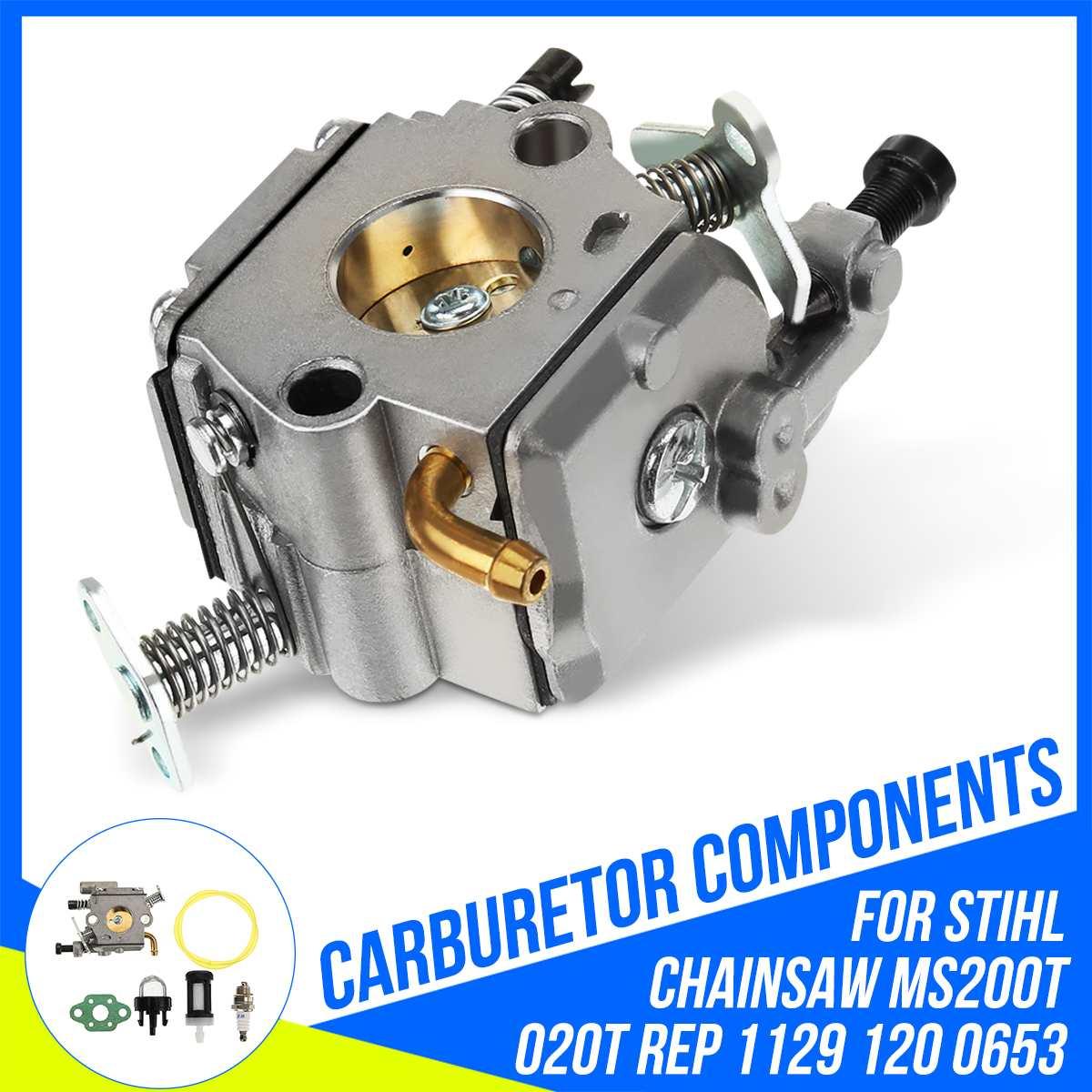 Carburador de carburador para Stihl MS200 MS200T 020T, motosierra ZAMA C1Q-S126B 11291200653, sistema de suministro de combustible, repuestos de carburadores