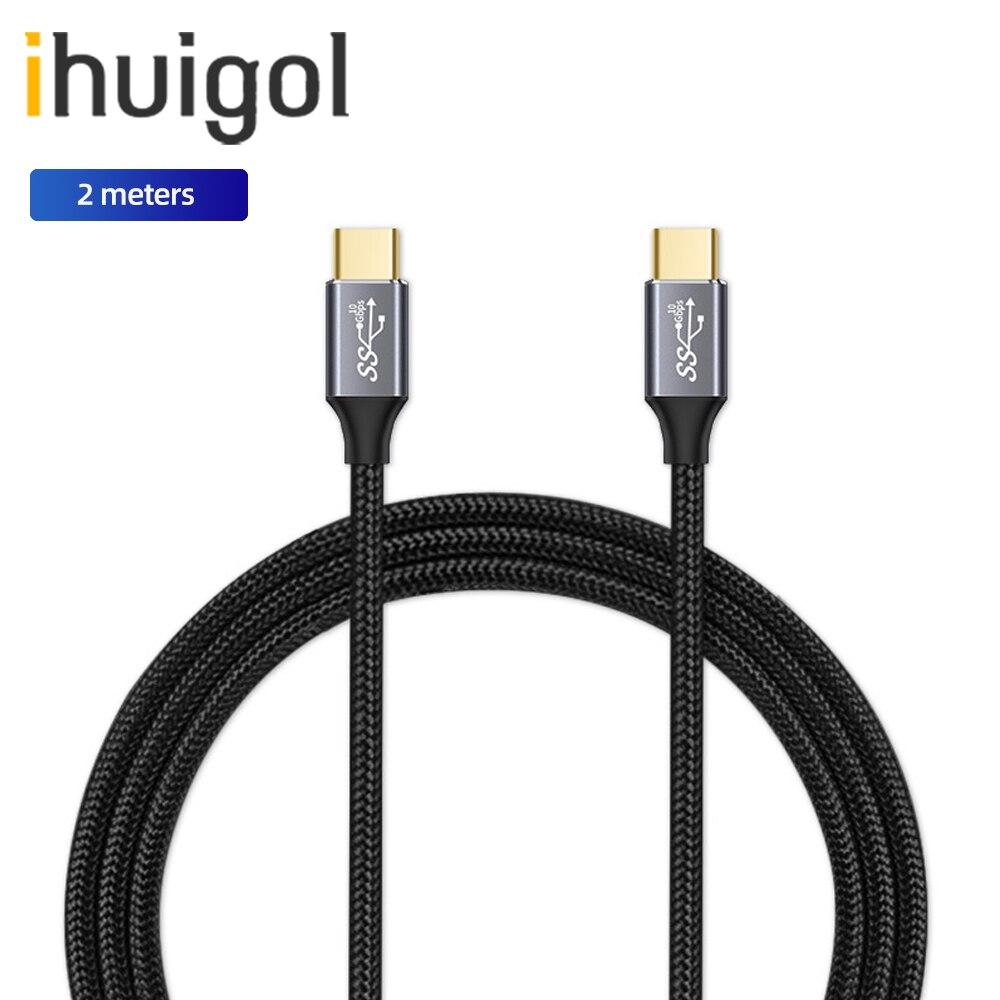 Ihuigol 100W USB C 3,1 de Gen2 tipo C Cable de datos...