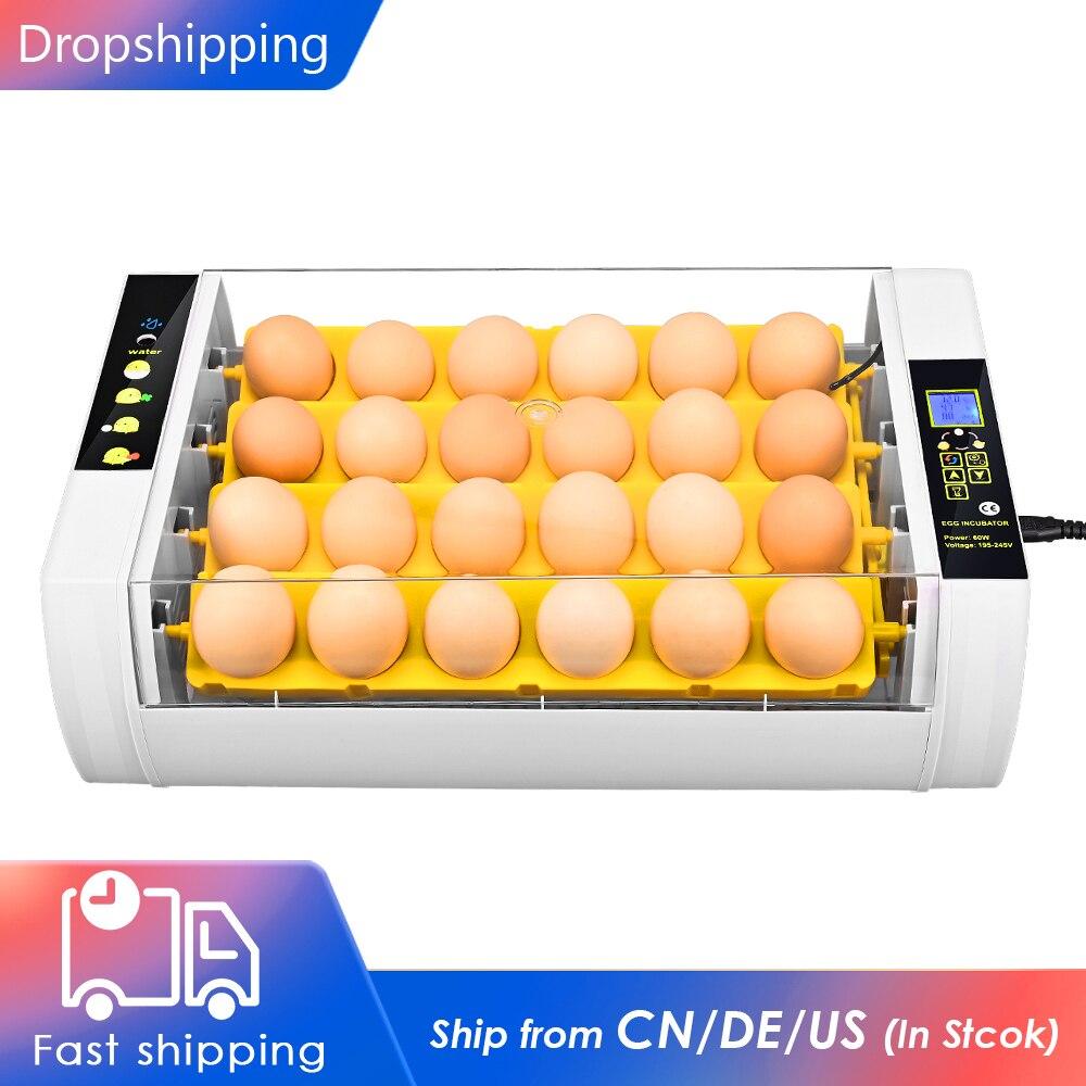 Полностью автоматический инкубатор для бродов на 24 яйца, инкубатор для бройлеров, инкубатор для домашней птицы, устройство для контроля вла...