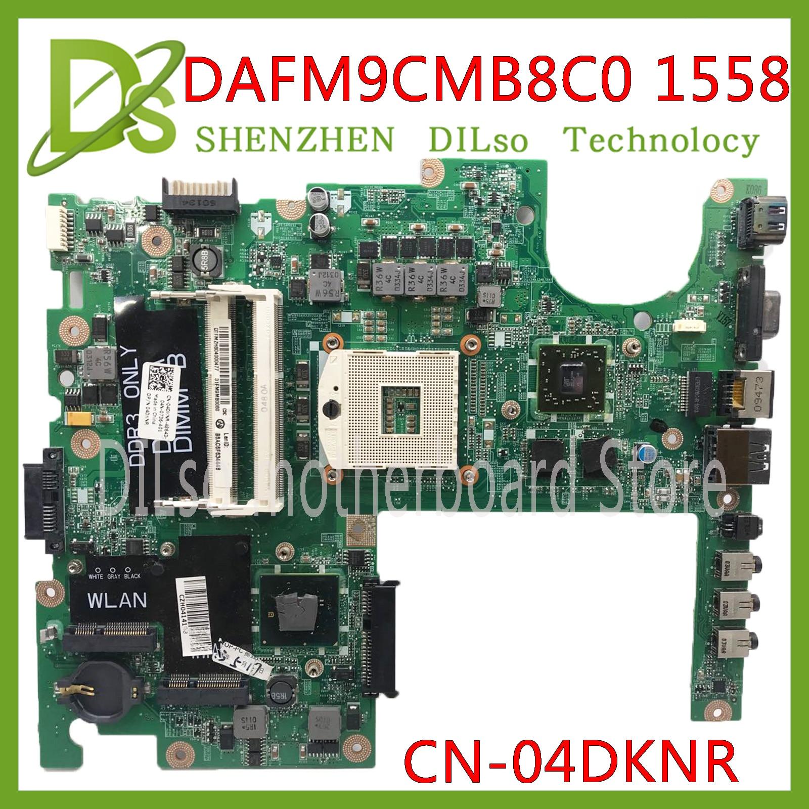 Kefu dafm9cmb8c0 placa-mãe para dell studio 1558 portátil placa-mãe CN-04DKNR hm55 pga989 ddr3 hd5470 1 gb original 100% testado