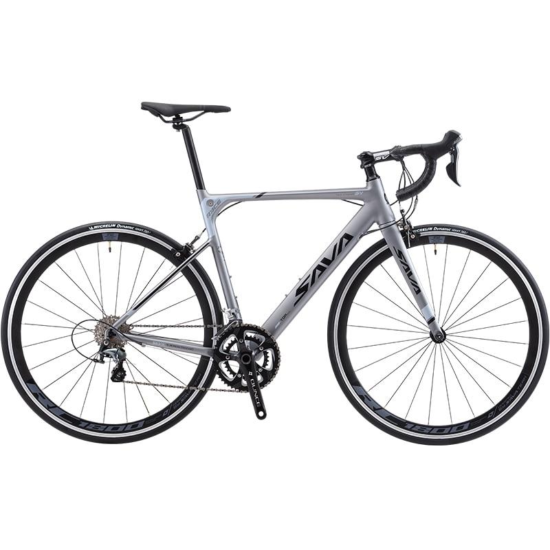 Cuadro de aluminio para bicicleta de carretera, horquilla de carbono con SHIMANO...