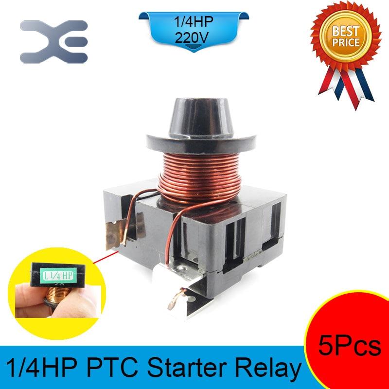 5PCS Protetor da Sobrecarga de Geladeira Geladeira Peças De Reposição L1/4 HP Compressor Frigorífico 220V 180W