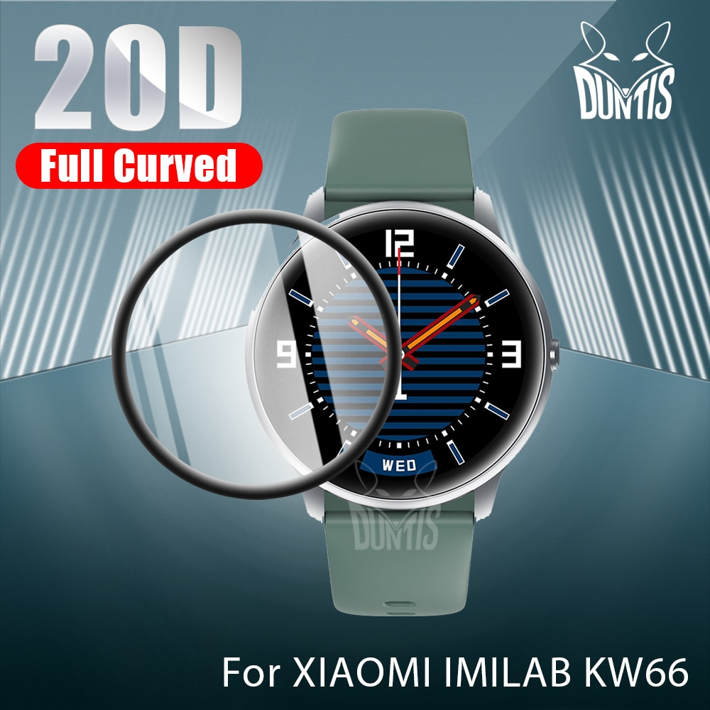 20D Curved Edge Protective film for Xiaomi Xiao Mi IMILAB KW66 Smart Watch soft screen protector acc